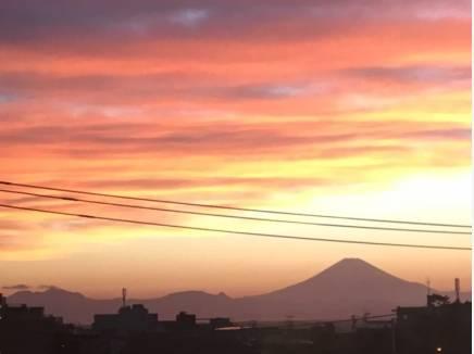 富士山を美しく望みます♪