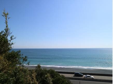 正面に海を望める眺望が魅力です。