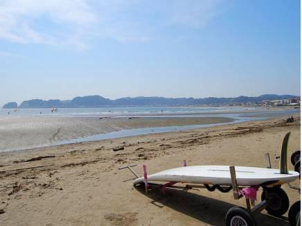 休日は材木座海岸でのんびりと(約2.1Km)