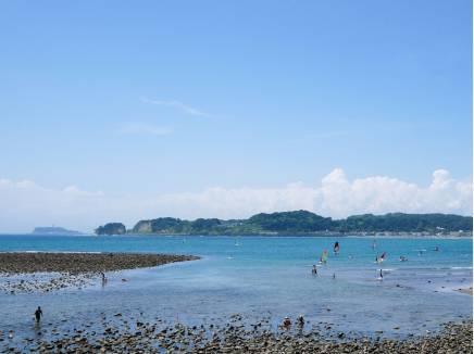 磯遊びが出来そうな透き通った海まで徒歩1分(約20m)
