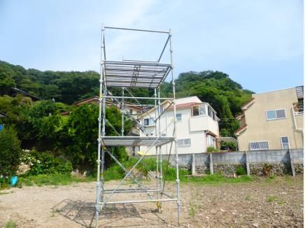 現地には櫓が建っております。