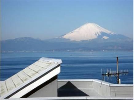 富士山を望めます。江ノ島も望めます。