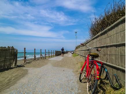 江ノ島まで通じるサイクルロード