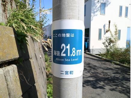 海抜は21.8Mとなります。