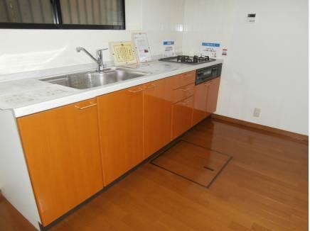 キッチンスペースには床下収納があり便利です。