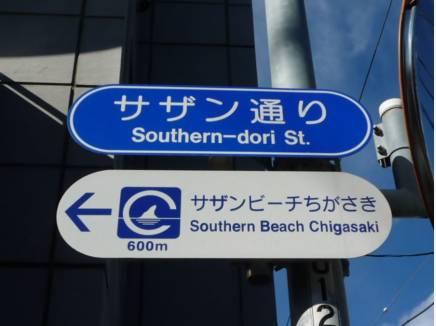 駅と海とを繋ぐ「サザン通り」を通って自宅まで