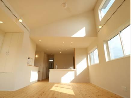 白を基調に明るく開放的な室内