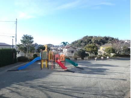 マンションの目の前の公園です。約10M