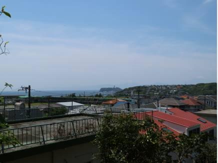江の島が見えます。