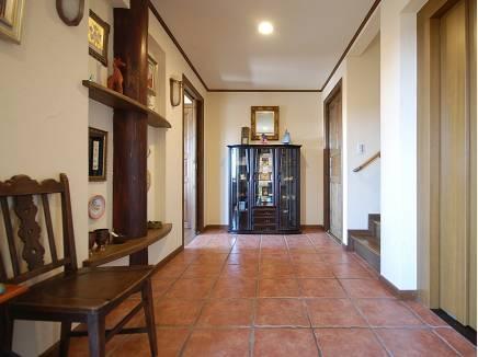 ホール~ゆとりの廊下、ホームエレベーターはこちらから利用できます。