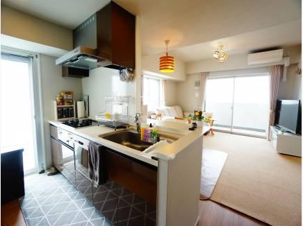 食器洗浄機付きのシステムキッチンはディスポーザーも完備。
