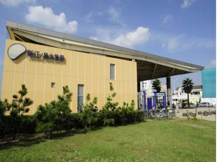新江ノ島水族館まで徒歩8分(約600m)。