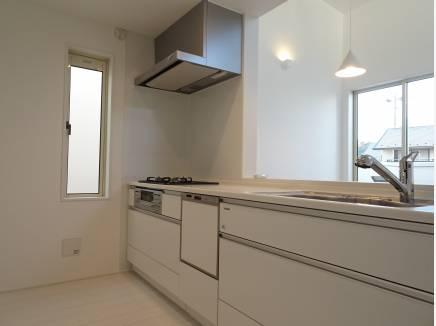 食洗器内蔵のオープンキッチン