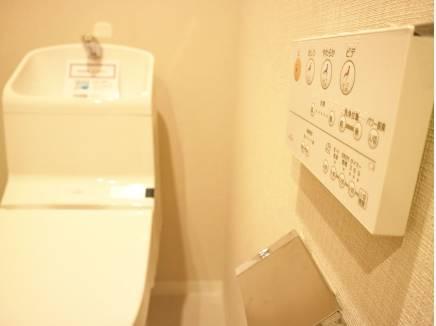 トイレもゆったりしています