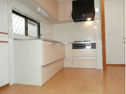 使い勝手の良さそうなL型キッチン。