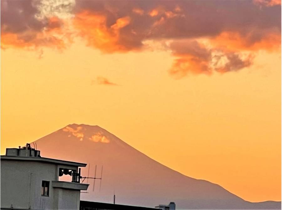 季節や時間毎の富士山の表情が素敵です。 (R3.1.10撮影)