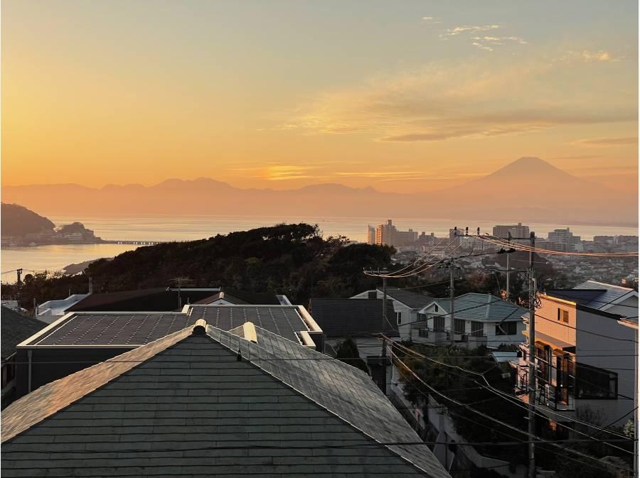 富士山もクッキリ。