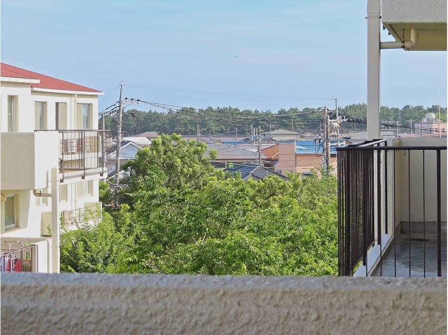 バルコニーからは美しい眺望が。