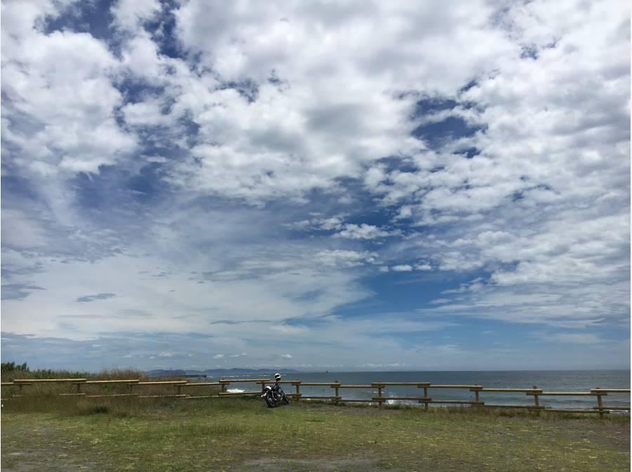 柳島海岸までは約1キロ!平坦まっすぐです!