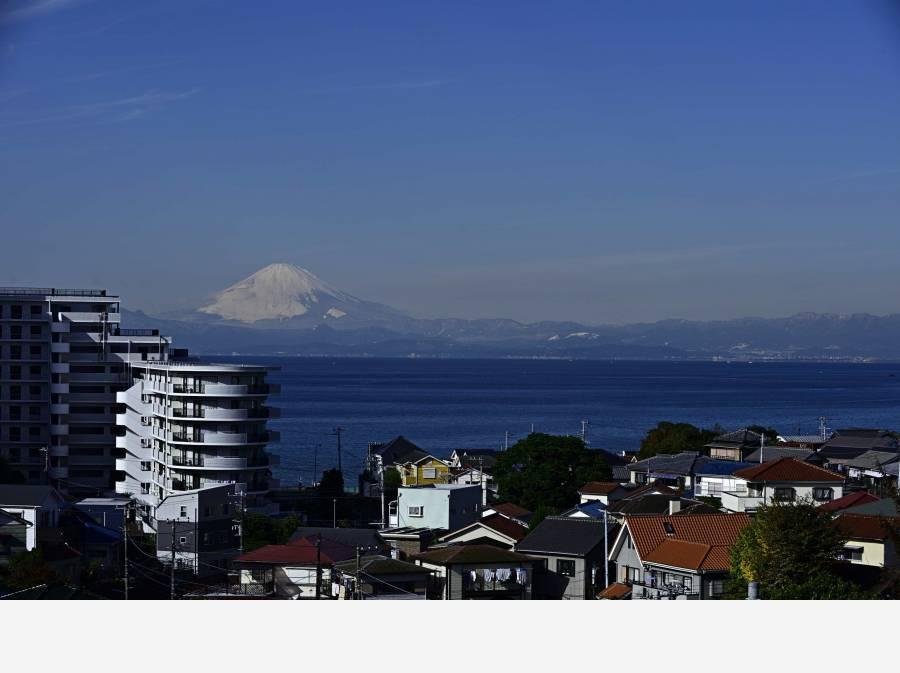 富士山を望むこともできます。