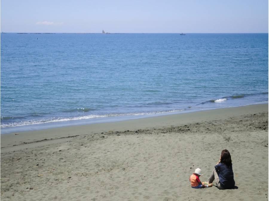 週末は家族で海で過ごす生活♪