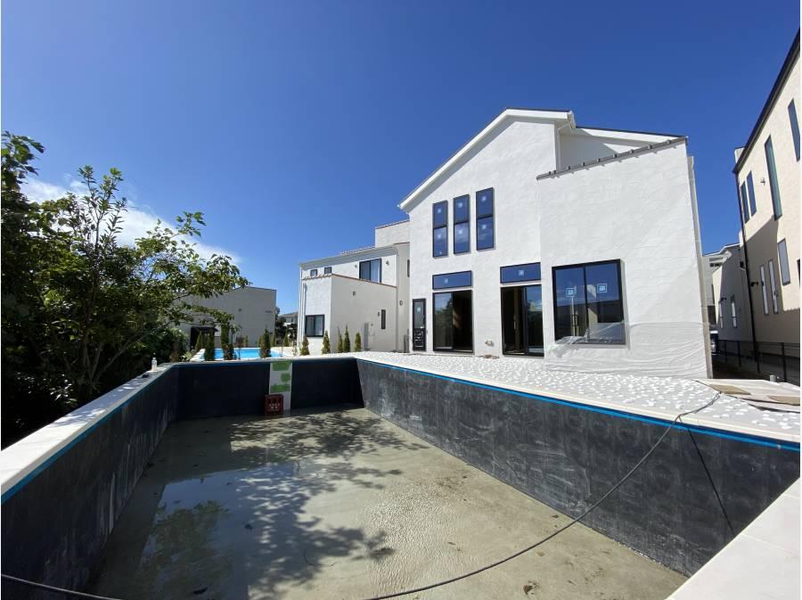 南側のお庭にはプールが設置されます。