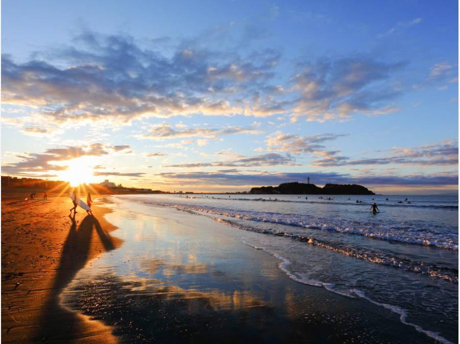 朝から波乗り♪ 海までは歩いて11分(約880m)