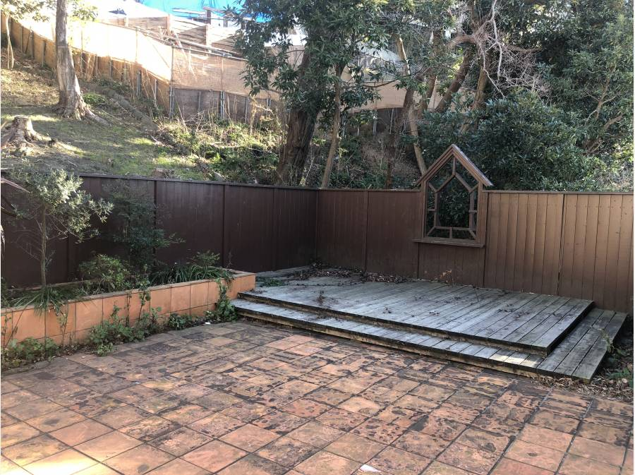 裏側のお庭スペース