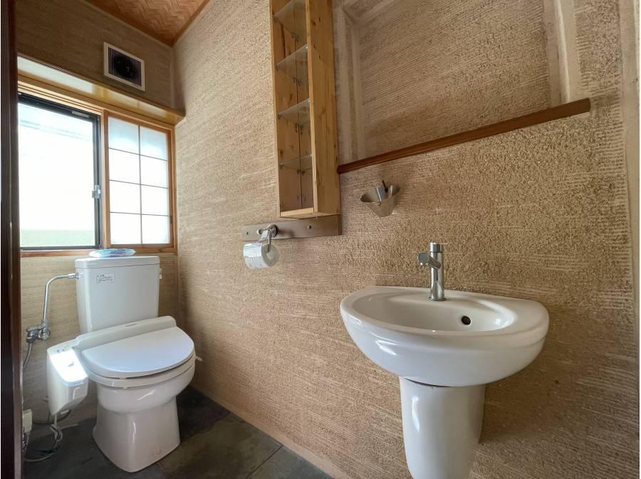 珪藻土塗りのトイレ