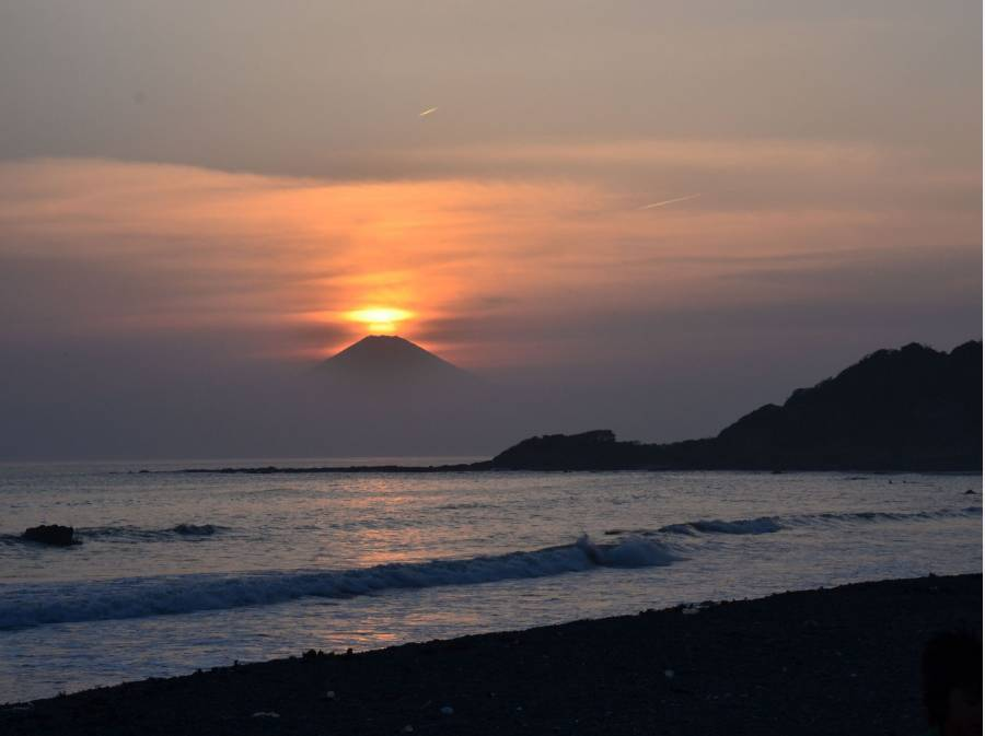 久留和海岸の夕景は素晴らしいですよ