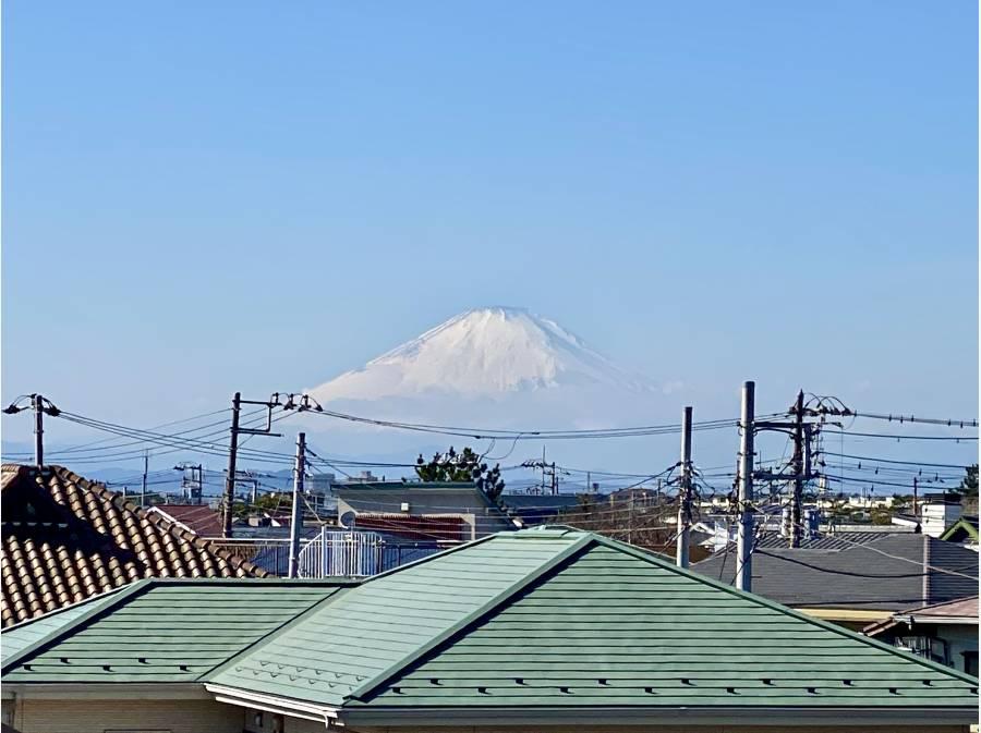 ルーフトップから富士山がはっきりと見えました