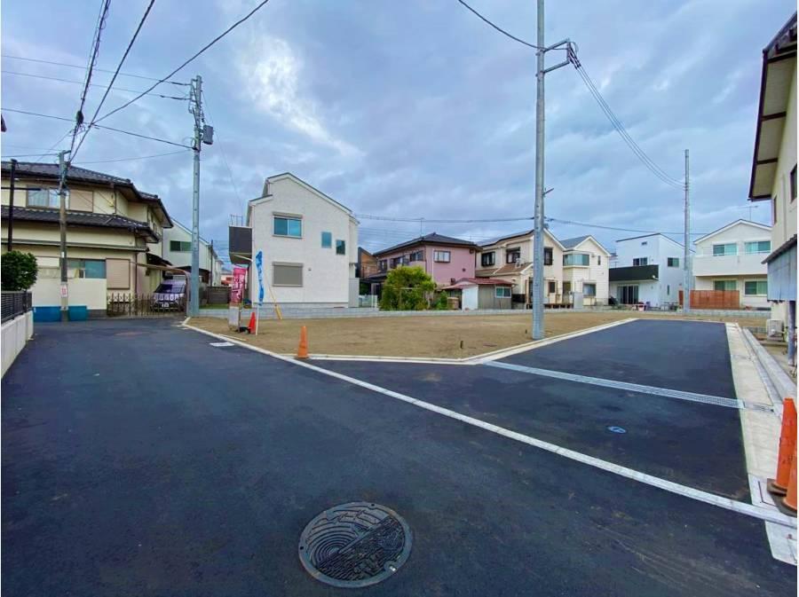 新規開発分譲地で前面道路も綺麗に整備されています