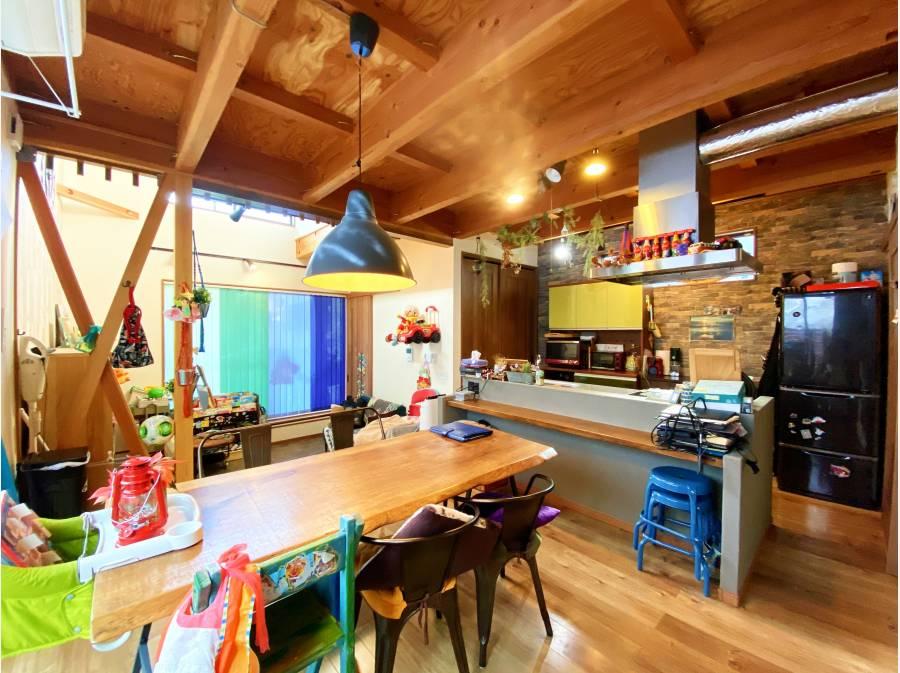 キッチン&ダイニング&土間スペース 床暖房完備