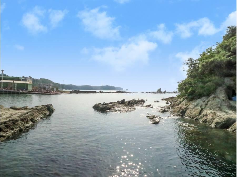 近隣約50m付近。浅瀬で磯遊び。