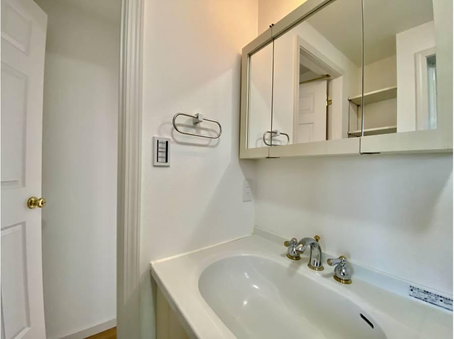 建具と洗面台も統一感があります
