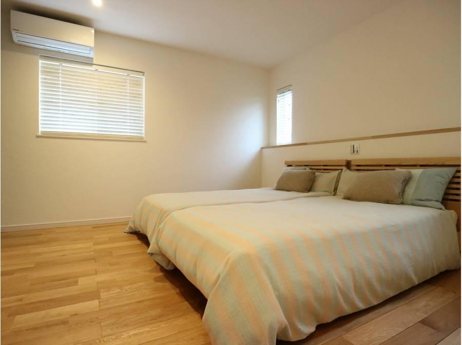 広いWIC付の寝室です。