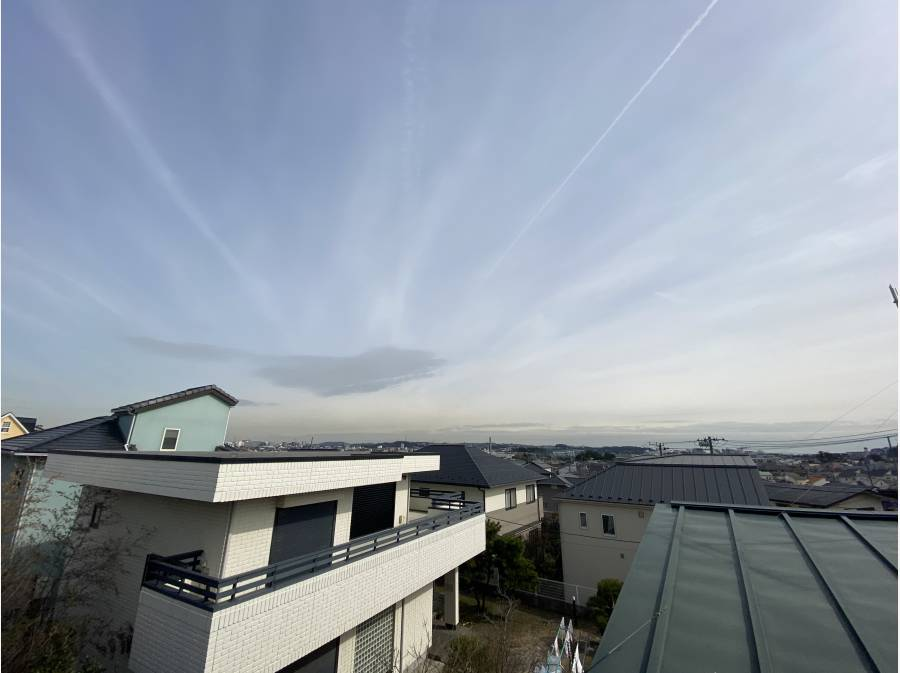 素晴らしい眺望です。江ノ島を望めます。