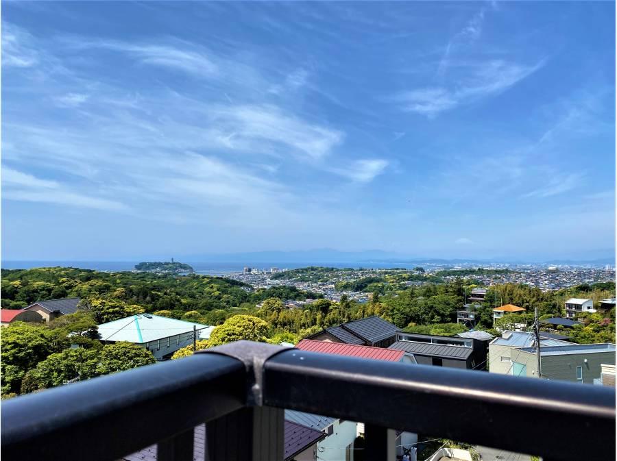 海、富士山、江の島を望む屋上スペース!