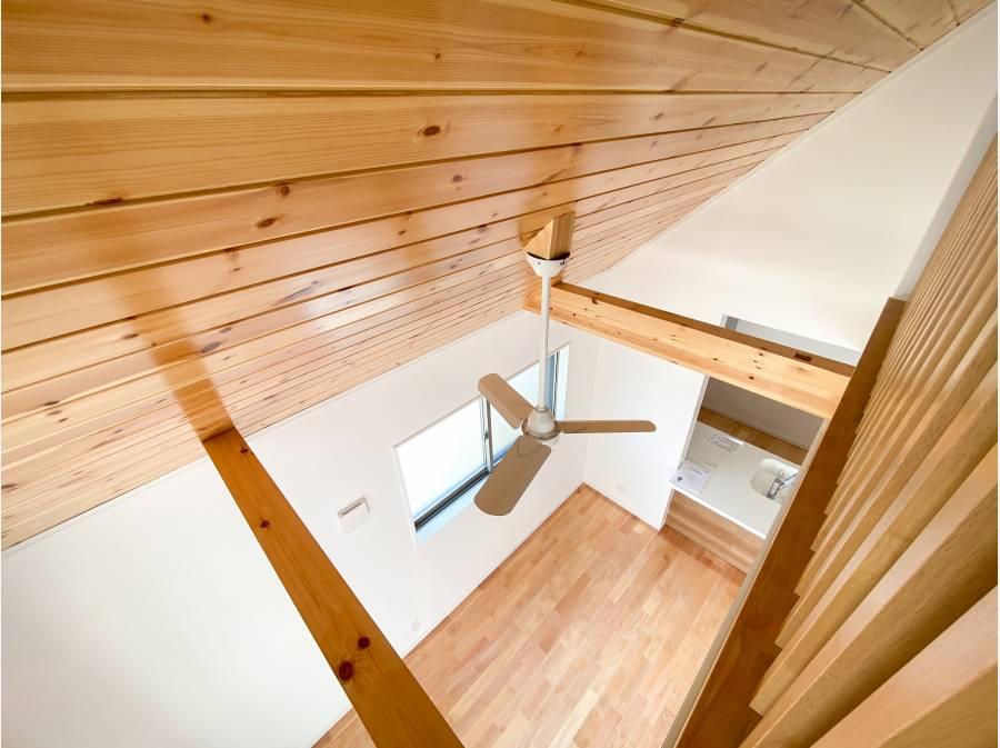 LDK天井は一部パイン無垢材板張り