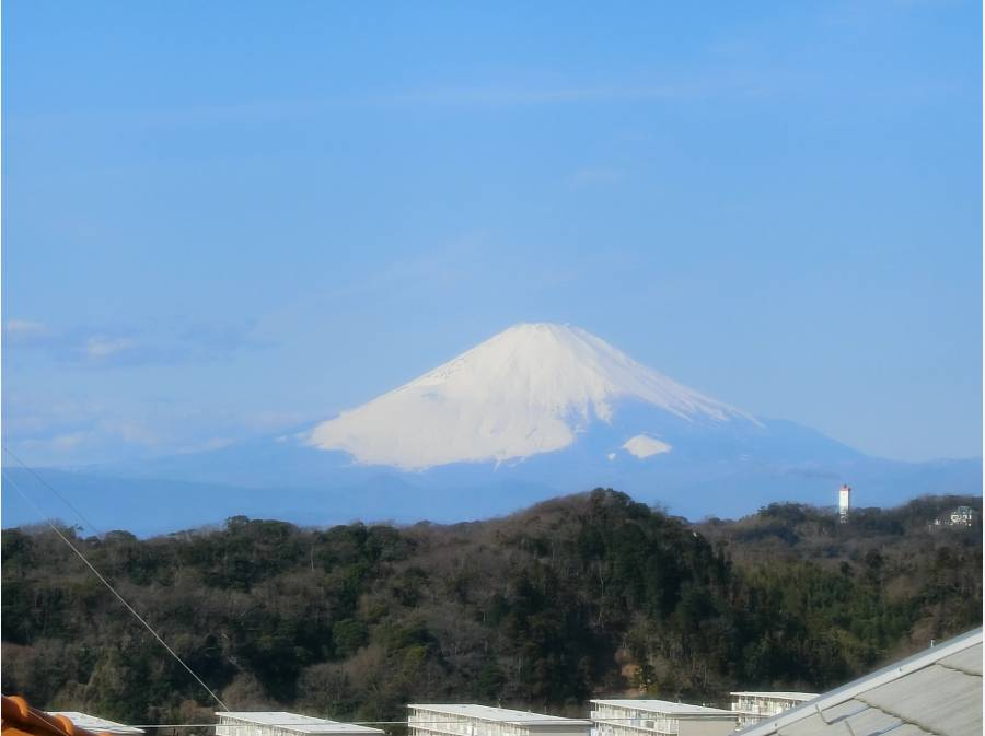 洋室6.5帖大からの富士山の眺め、朝一の天気を占う習慣になりそう♪