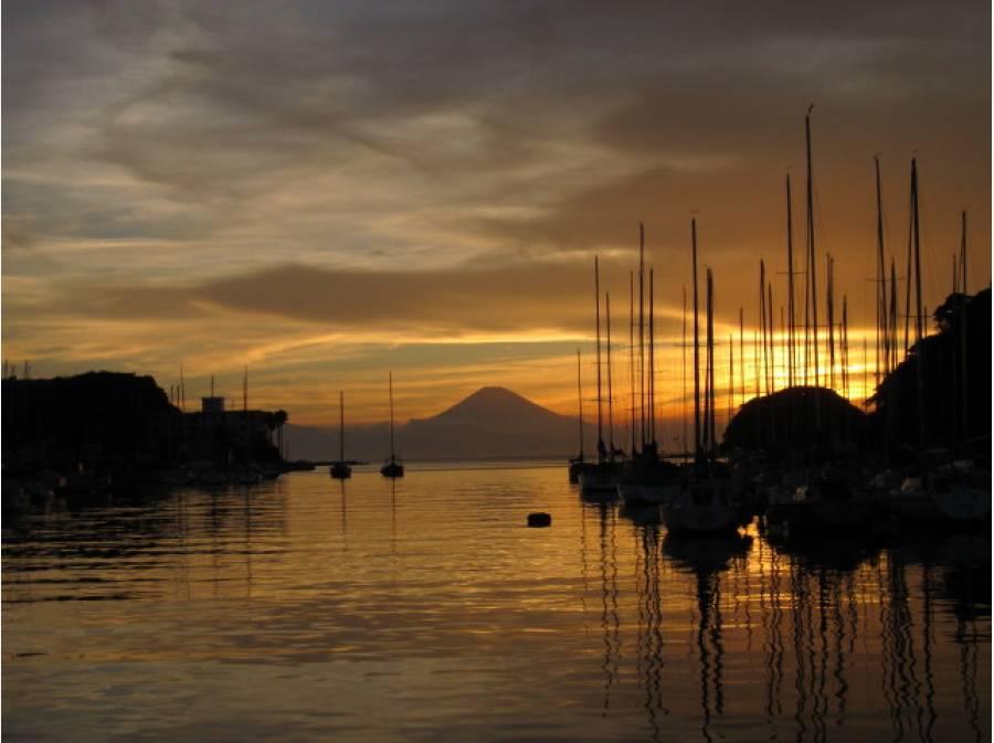 サンセットタイムの富士山です。