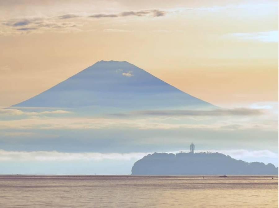 サンセット富士を楽しめる 海まで3分(約240m)