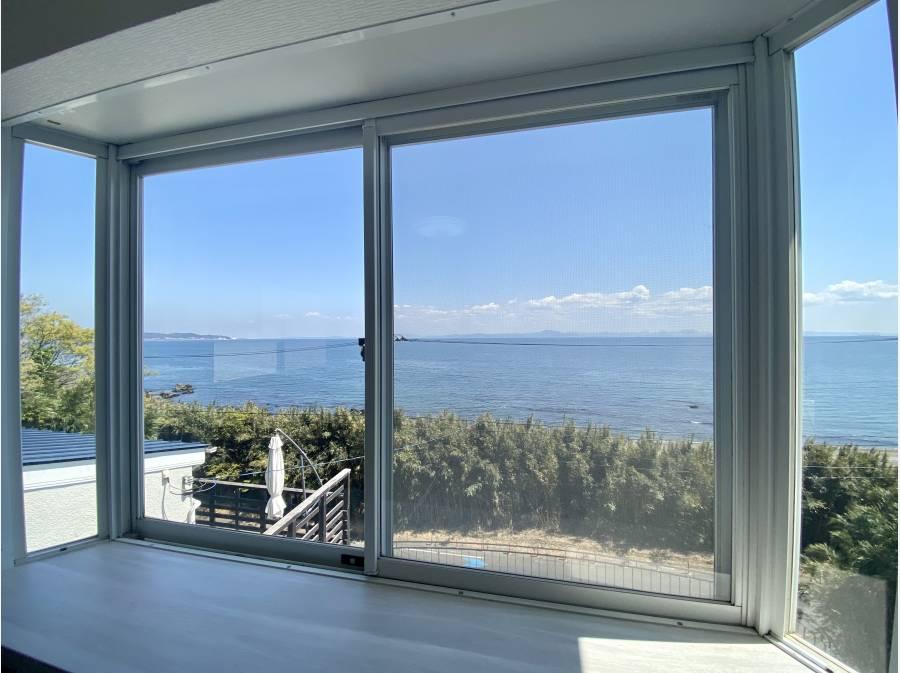 2階居室からの眺望。ずっと眺めていたくなる景色です