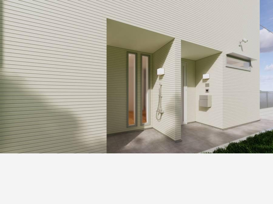 玄関横にシャワーブース施工イメージ