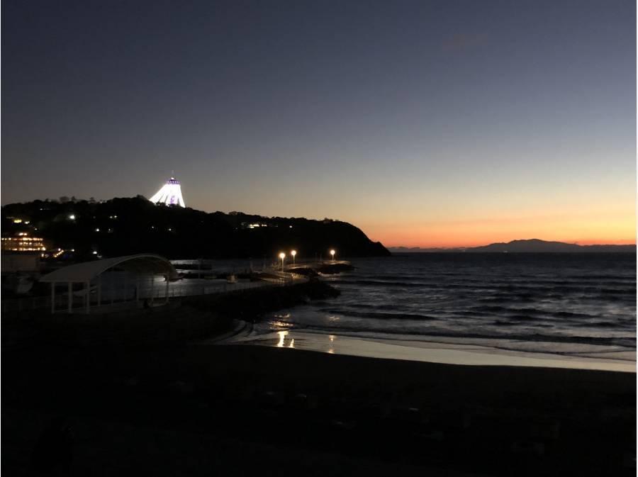 海まで約350m!夜の雰囲気もお楽しみくださいませ♪