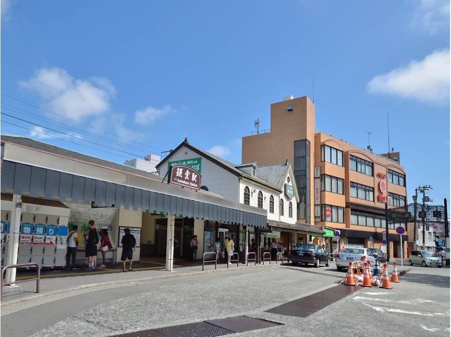 江ノ電乗り場と併設した鎌倉駅から徒歩22分。