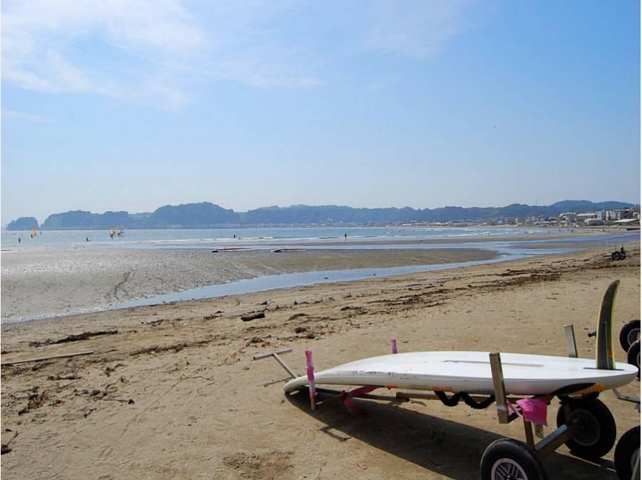 砂浜が毎日の散歩コースになる贅沢(約2000m)
