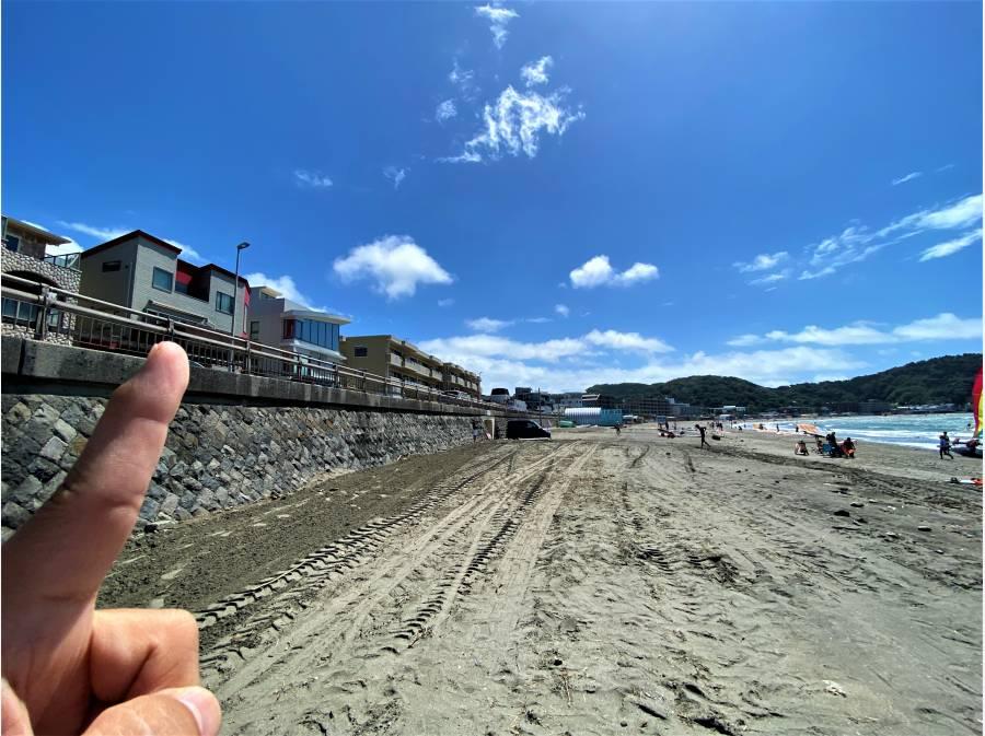 逗子海岸から物件を望んでみました!