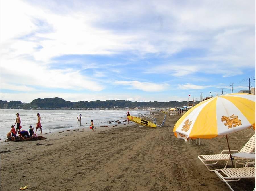 材木座海岸は湘南エリアで一番広い砂浜だ、って知ってました?