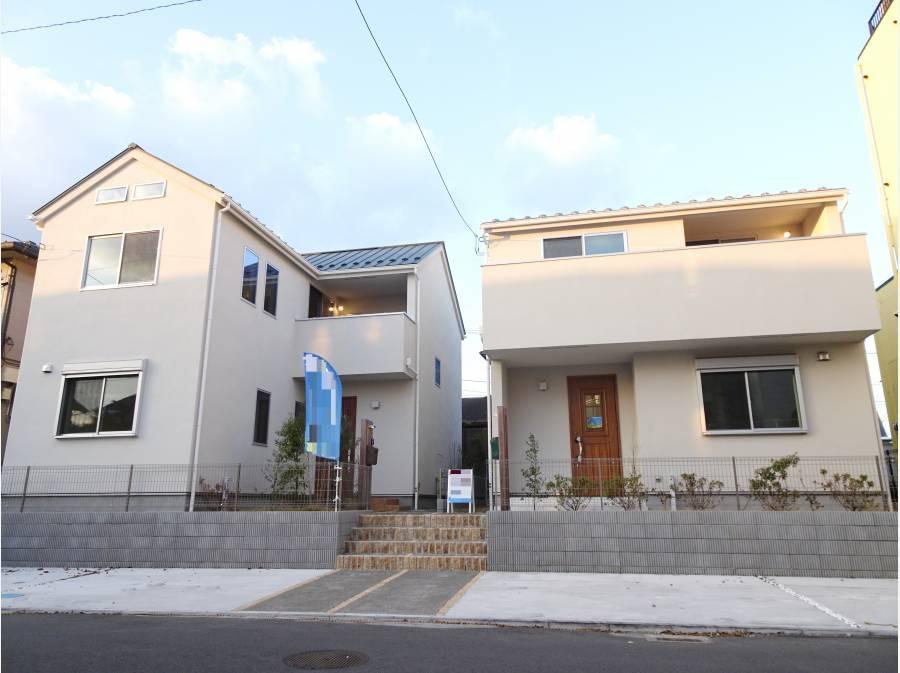 全2棟の新築宅地 一段あがっているため通行人の目を気にすることなく